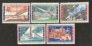 Belgium 1958 #B619-23, Unused/MH, CV $2.10