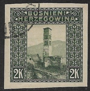BOSNIA AND HERZEGOVINA 1906 2K ST LUKE'S CAMPANILE Imperf Sc 44b CTO Used