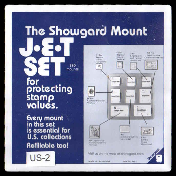 Showgard Mounts Variety JET SET Pack # US2 (320 PRE CUT MOUNTS Black
