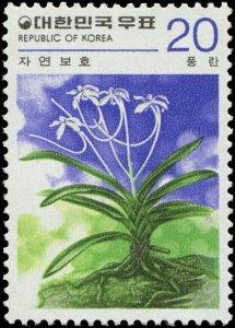 Korea 1979 Sc 1152 Flower Orchid