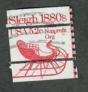 US #1900a Sleigh Used PNC Single plate #3