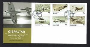 Gibraltar: 2012 75th Anniv. of Battle of Britain, unaddressed First day cover,