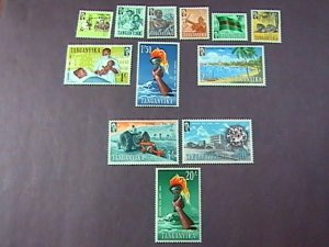 TANGANYIKA # 45-56-MINT/HINGED--COMPLETE SET-------1961