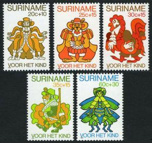 Surinam B271-B275,  MNH. Characters from Anansi & His Creditors, 1980