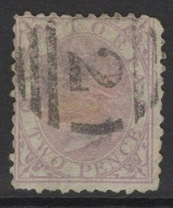 VICTORIA SG170a 1873 2d MAUVE WORN PLATE USED
