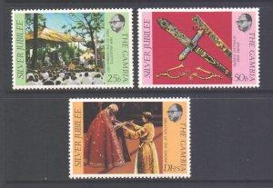 Gambia MNH 345-7 QE II Silver Jubilee 1977