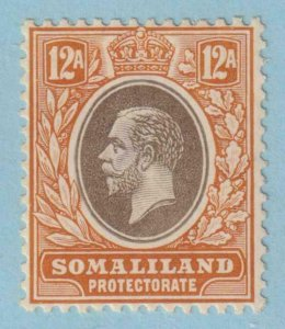 SOMALILAND PROTECTORATE 48a  MINT HINGE REMNANT OG * NO FAULTS EXTRA FINE !