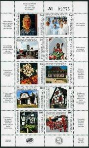 Venezuela 1501 aj sheet,MNH.Mi 2779-2788 klb. Settlement of Tovar Colony,1993.