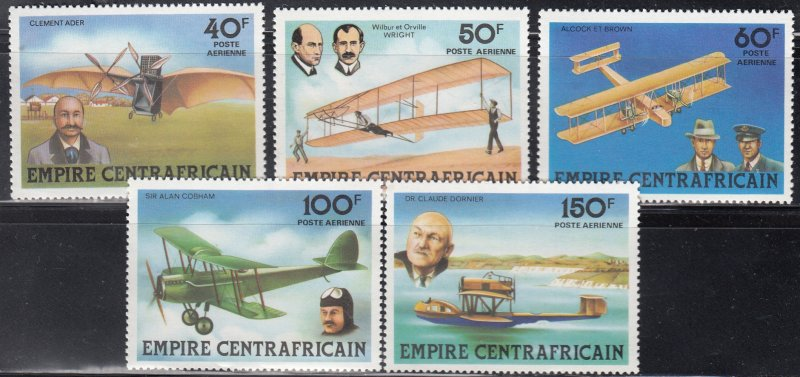 Central African Empire, Sc C194-C198, MNH, 1978, Airplanes