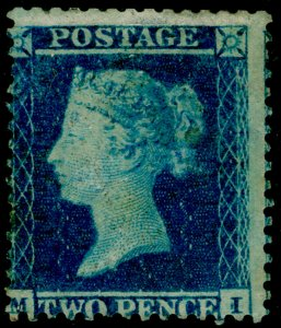SG23, 2d blue plate 4, SC14, M MINT. Cat £13000. MI