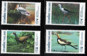 Thailand  Scott 1730-1733 MNH** 1997 water Bird stamp set