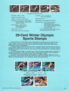 US SP997 Winter Olympics 2611-2615 Souvenir Page FDC