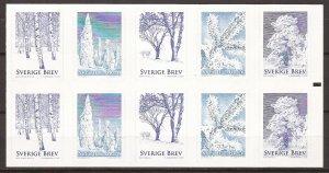 2015 Sweden -Sc 2763f - MNH VF - Complete Booklet -  Winter Trees