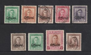 New Zealand a small used lot of KGVI Officials