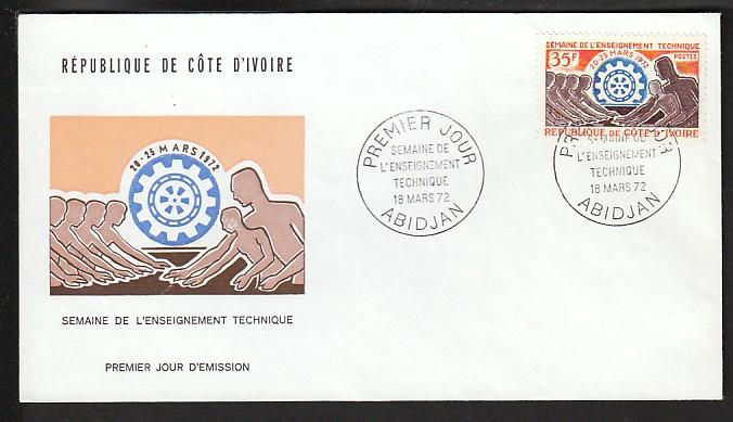 Ivory Coast 323 Technology U/A FDC