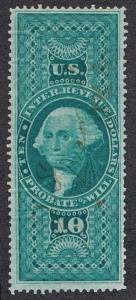 UNITED STATES R96c, USED, F-VF, $10 P.O.W., PERF