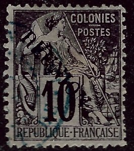 Reunion Sc #21 Used F-VF hr SCV$8...French Colonies are Hot!