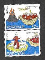 Faroe Islands 264-265 Mint NH MNH Europa!