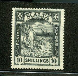 MALTA 10/  ST. PAUL SCOTT #73 MINT LIGHT HINGED --SCOTT VALUE $400.00