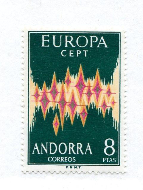 Spanish Andorra  1972 Europa Mint VF NH