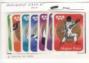 J25754  jlstamps 1973 hungary mnh set #c329-35 sports all checked