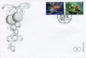Bosnia & Herzegovina Fruits Stamps 2019 FDC Strawberries Trees Flowers 2v Set