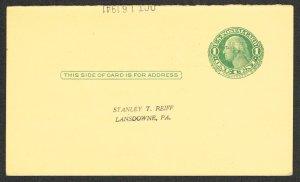 United States Reply Card Scott UY7m