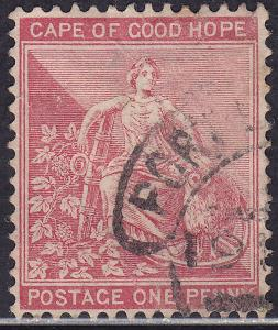 Cape of Good Hope 43 Hinged 1885 Hope & Symbols of Colony