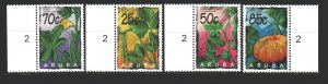 Aruba. 1995. 160-63. Vegetables, Pumpkins. MNH.