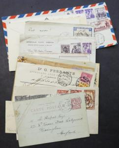 EDW1949SELL : EGYPT Varied collection of 35 covers & Post Cards many interesting