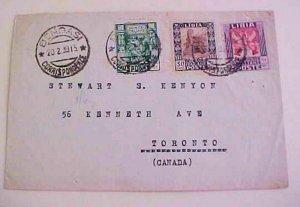 LIBYA 1939  BENGASI TO CANADA