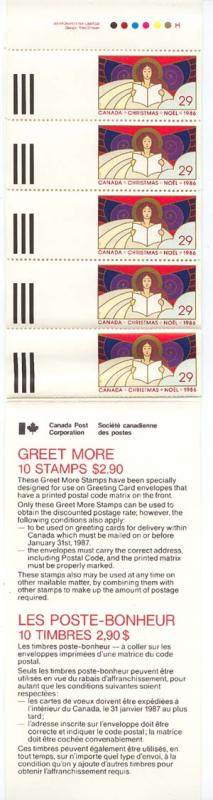 Canada - 1986 Christmas Greet More Booklet mint #BK91d