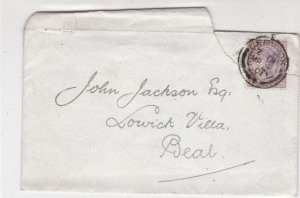 England 1901 Berwick Cancel Frm Solicitors Berwick TORNStamp Cover to Deal 34883