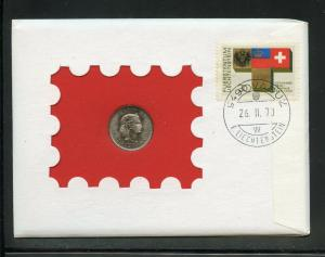 SWITZERLAND  197O COMBO FIRST DAY OF ISSUE 10 CENTIMES  COVER AS SHOWN