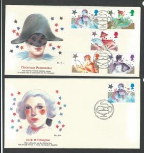 Great Britain complete set of 6 first day covers 1124 - 1128
