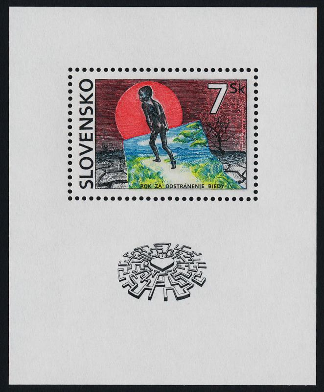 Slovakia 243 MNH Art, Year for the Eradication of Poverty