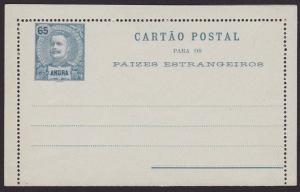 PORTUGAL ANGRA 65r lettercard unused.......................................6714
