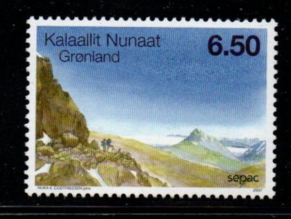 Greenland Sc 501 2007 Landscape stamp mint NH