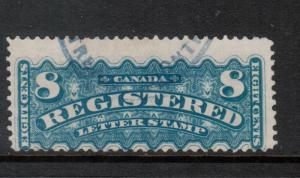 Canada #F3 Used Fine With Nice Oval Registered Cancel