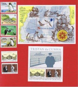 Tristan da Cunha #191-197a  MNH OG  1974 complete w/SS   Free S/H