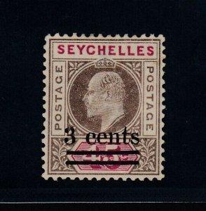 Seychelles, SG 59 var, MLH Slotted Frame variety