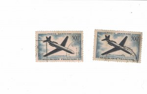 1113 - France (500 Fr) 1957 - Postage stamps Airmail [Stamp] Mint conditions