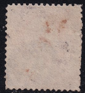 US STAMP #159 1873 6¢ Lincoln Continental Bank Note Printing used reperf stamp
