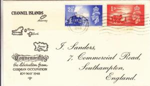 1948, Great Britain: Channel Islands Liberation Fm Germany, FDC (HS359)