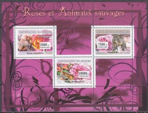 2007 Guinea 4668-70KL Rose and animals 8,00 €