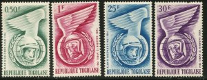 TOGO Sc#417-420 1961 US & Russian Astronauts Complete Mint OG NH