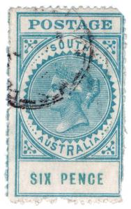 (I.B) Australia Postal : South Australia 6d