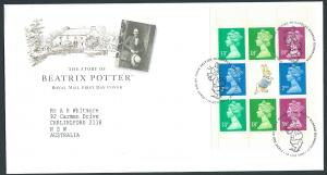 GB QEII 1993 Machins Booklet Pane X1012m  VFU Beatrix Potter