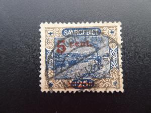 Germany  Saargebiet 1921  Sc.#86
