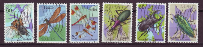 J13623 JLstamps various 1986 japan insects used from a set